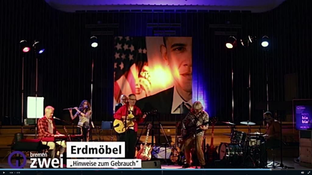 Radio Bremen 2, Erdmöbel, Sendesaal